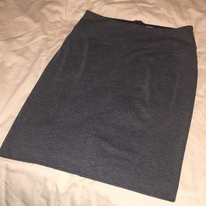 Banana Republic Grey Stretchy Pencil Skirt